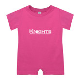 Bubble Gum Pink Infant Romper-Kinghts Joshua Christian Academy