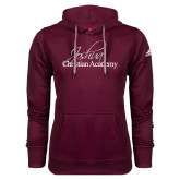 Adidas Climawarm Maroon Team Issue Hoodie-Joshua Christian Academy