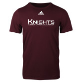 Adidas Maroon Logo T Shirt-Kinghts Joshua Christian Academy
