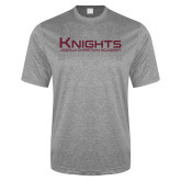 Performance Grey Heather Contender Tee-Kinghts Joshua Christian Academy