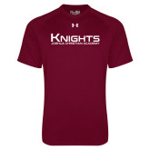 Under Armour Maroon Tech Tee-Kinghts Joshua Christian Academy
