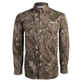 Camo Long Sleeve Performance Fishing Shirt-Kinghts Joshua Christian Academy