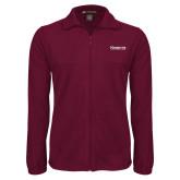 Fleece Full Zip Maroon Jacket-Kinghts Joshua Christian Academy