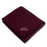 Maroon Arctic Fleece Blanket-Joshua Christian Academy