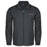 Full Zip Charcoal Wind Jacket-Joshua Christian Academy