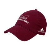 Adidas Maroon Slouch Unstructured Low Profile Hat-Joshua Christian Academy