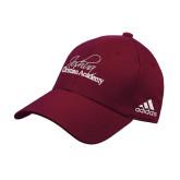 Adidas Maroon Structured Adjustable Hat-Joshua Christian Academy