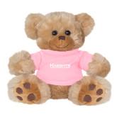 Plush Big Paw 8 1/2 inch Brown Bear w/Pink Shirt-Kinghts Joshua Christian Academy