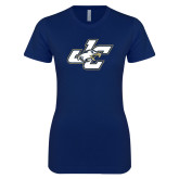 Next Level Ladies SoftStyle Junior Fitted Navy Tee-JC