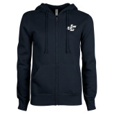 ENZA Ladies Navy Fleece Full Zip Hoodie-JC