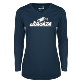 Ladies Syntrel Performance Navy Longsleeve Shirt-Juniata