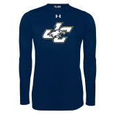 Under Armour Navy Long Sleeve Tech Tee-JC
