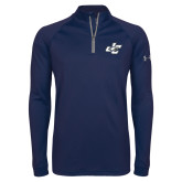 Under Armour Navy Tech 1/4 Zip Performance Shirt-JC