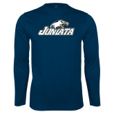 Performance Navy Longsleeve Shirt-Juniata