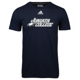 Adidas Climalite Navy Ultimate Performance Tee-Primary Mark