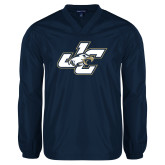 V Neck Navy Raglan Windshirt-JC