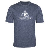 Performance Navy Heather Contender Tee-Juniata College