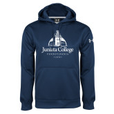Under Armour Navy Performance Sweats Team Hoodie-Juniata College