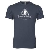 Next Level Vintage Navy Tri Blend Crew-Juniata College