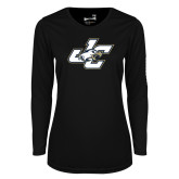 Ladies Syntrel Performance Black Longsleeve Shirt-JC