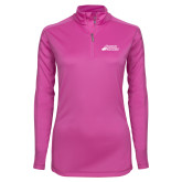 Ladies Syntrel Interlock Raspberry 1/4 Zip-Primary Mark