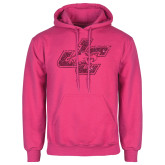 Fuchsia Fleece Hoodie-JC Hot Pink Glitter
