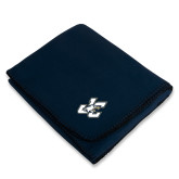 Navy Arctic Fleece Blanket-JC