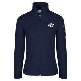 Columbia Ladies Full Zip Navy Fleece Jacket-JC