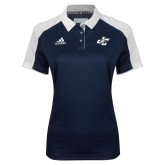 Ladies Adidas Modern Navy Varsity Polo-JC