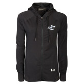 Ladies Under Armour Black Varsity Full Zip Hoodie-JC