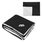 Super Soft Luxurious Black Sherpa Throw Blanket-Primary Mark