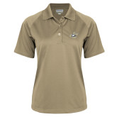 Ladies Vegas Gold Textured Saddle Shoulder Polo-JC