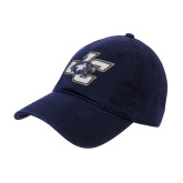 Navy Twill Unstructured Low Profile Hat-JC