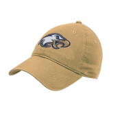 Vegas Gold Twill Unstructured Low Profile Hat-Eagle Head