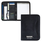 Insight Black Calculator Padfolio-Kaeser w tagline