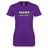 Next Level Ladies SoftStyle Junior Fitted Purple Tee-Kaeser w tagline