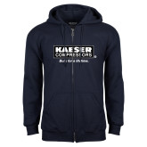 Navy Fleece Full Zip Hoodie-Kaeser w tagline