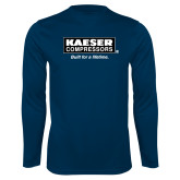 Performance Navy Longsleeve Shirt-Kaeser w tagline