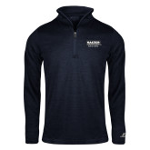 Russell Navy Heather 1/4 Zip-Kaeser w tagline