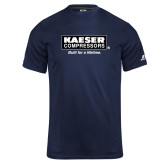Russell Core Performance Navy Tee-Kaeser w tagline