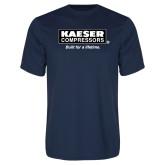 Performance Navy Tee-Kaeser w tagline