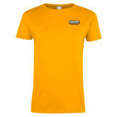 Ladies Gold T Shirt-Kaeser w tagline