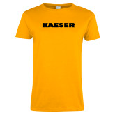 Ladies Gold T Shirt-Kaeser