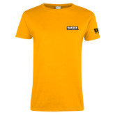 Ladies Gold T Shirt-Kaeser Primary Mark