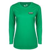 Ladies Syntrel Performance Kelly Green Longsleeve Shirt-Kaeser Primary Mark