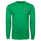 Kelly Green Long Sleeve T Shirt-Kaeser Primary Mark