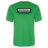 Performance Kelly Green Tee-Kaeser w tagline