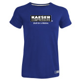 Ladies Russell Royal Essential T Shirt-Kaeser w tagline