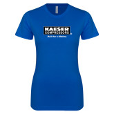 Next Level Ladies SoftStyle Junior Fitted Royal Tee-Kaeser w tagline
