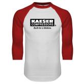 White/Red Raglan Baseball T Shirt-Kaeser